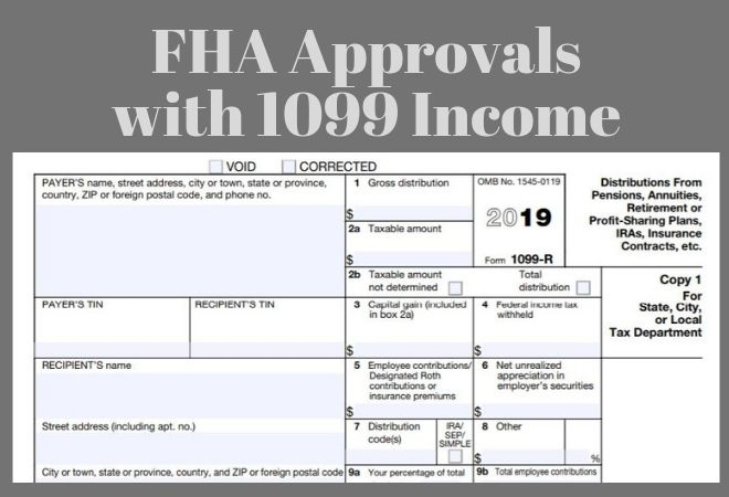 fha loan with 1099 income