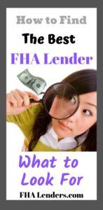 the best fha lenders