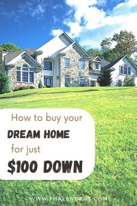 fha $100 down payment